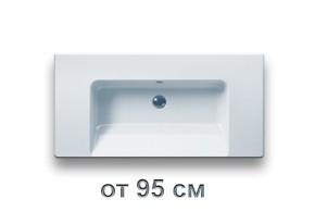 Раковины для ванной размером от 95 см до 100 см