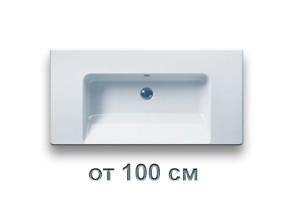 Раковины для ванной размером от 100 см до 105 см