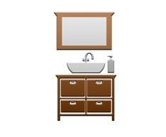 Комплекты мебели для ванной размером до 50 см