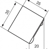 Ideal Standard Step T7252AA «Square» ручка с крепежом